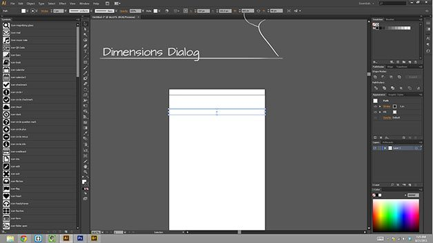 changing the dimensions of an object in adobe illustrator