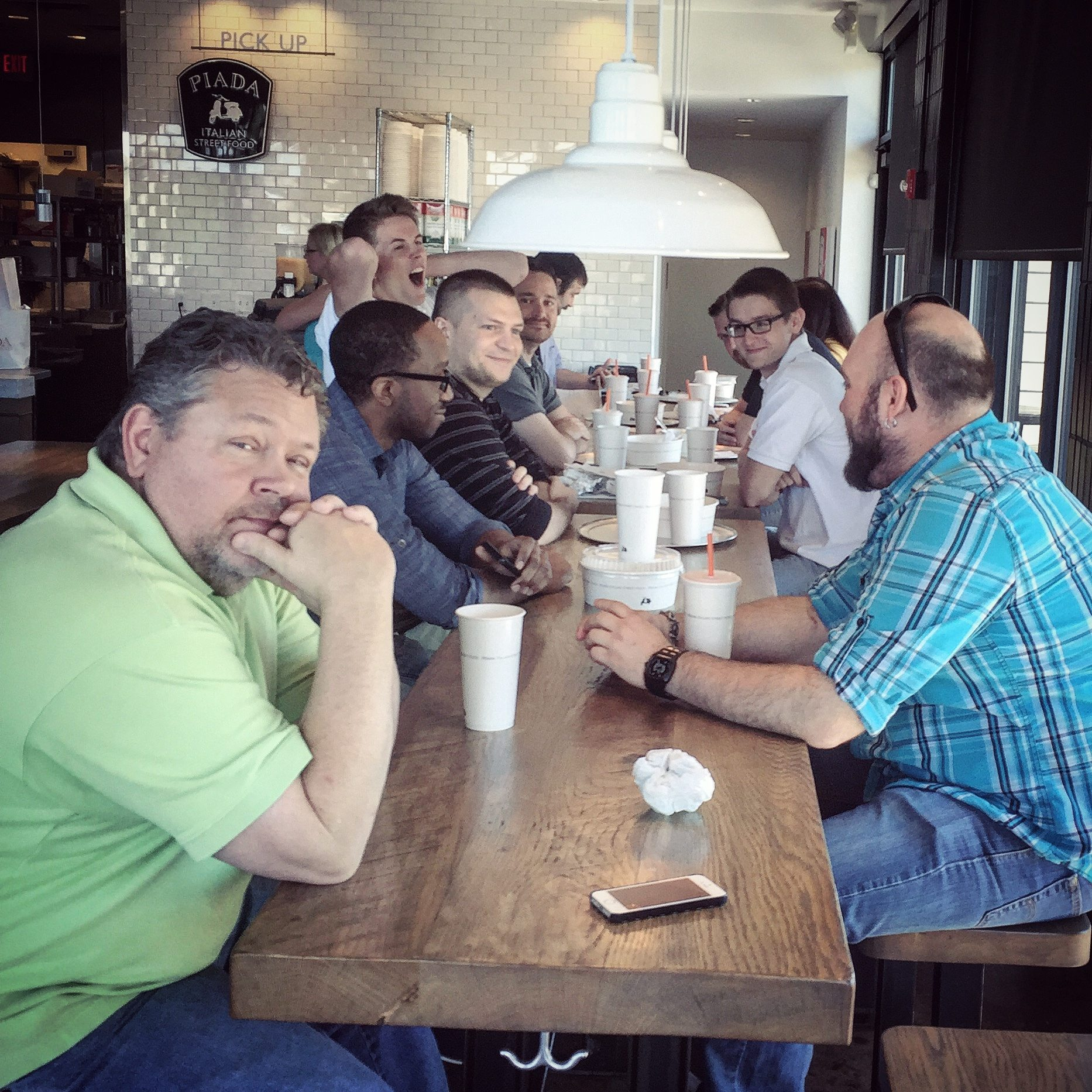 Chepri team enjoys lunch at Piada