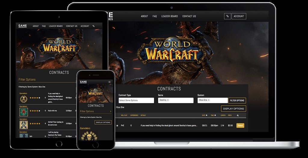 mobile, tablet, computer game mercenaries