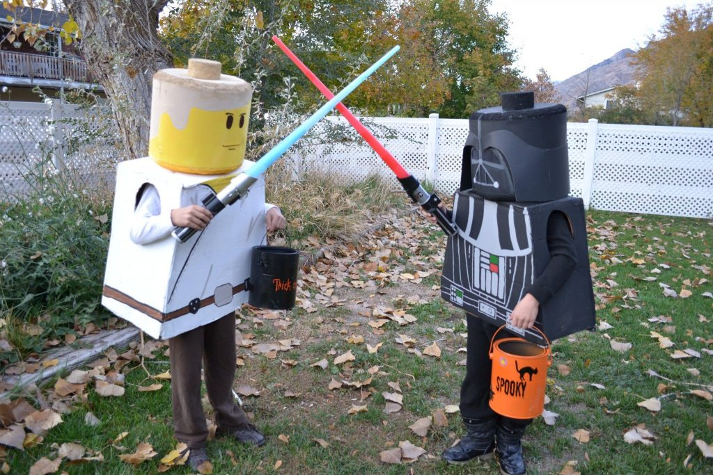 nerdy halloween costume lego kids