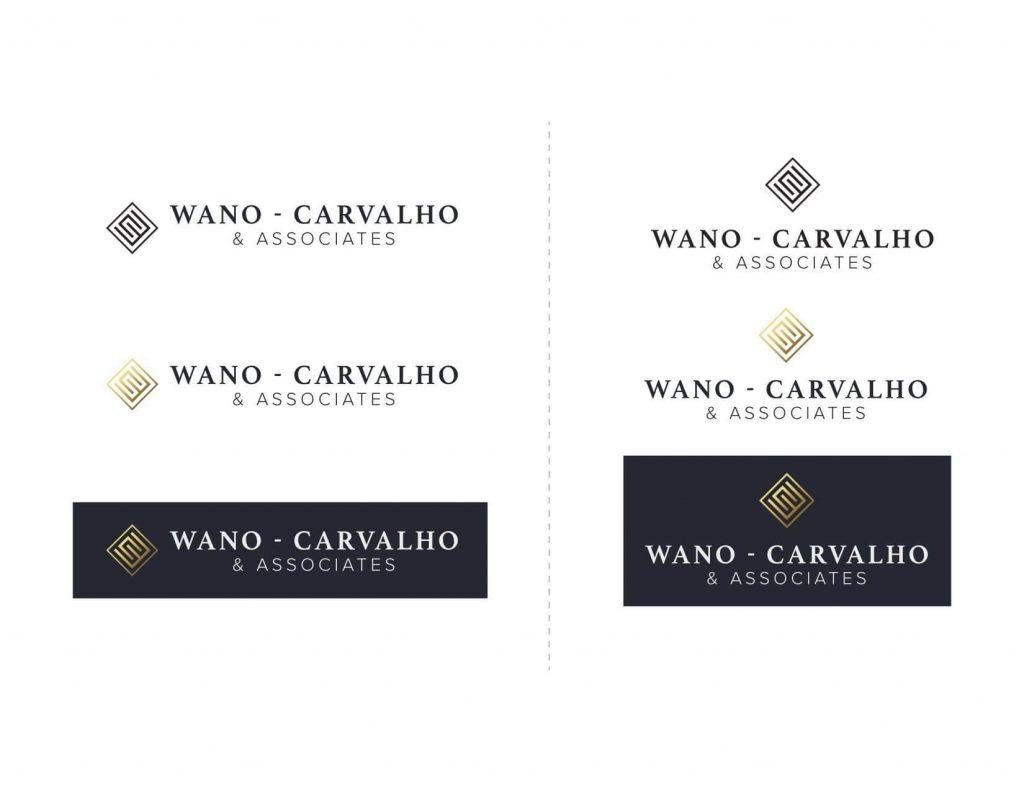 Chepri created branding for Wano, Carvalho & Associates new website