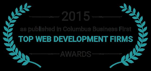 2015 Award top web development firm