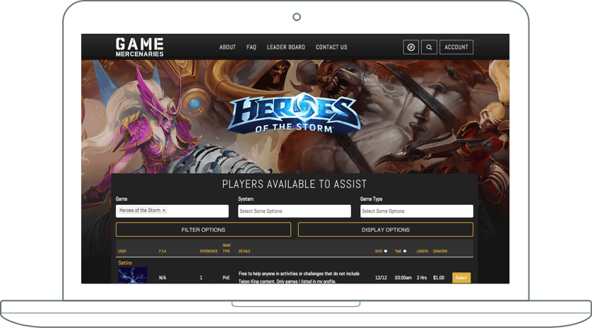 Web Development and Design: Game Roster Website