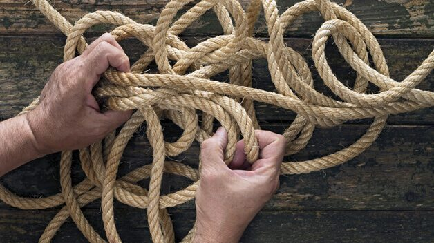 untangling a rope