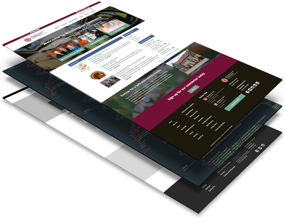 The layers of building a website for Washington Township