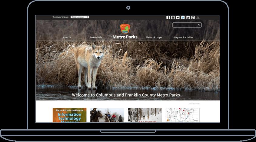 Metro Parks - Website & Mobile App Development