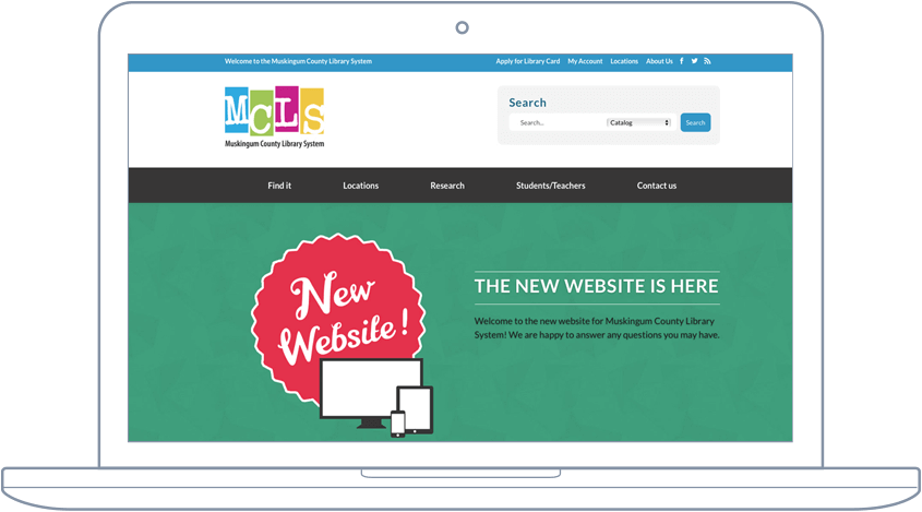 Muskingum County Library - Website & Mobile App Development
