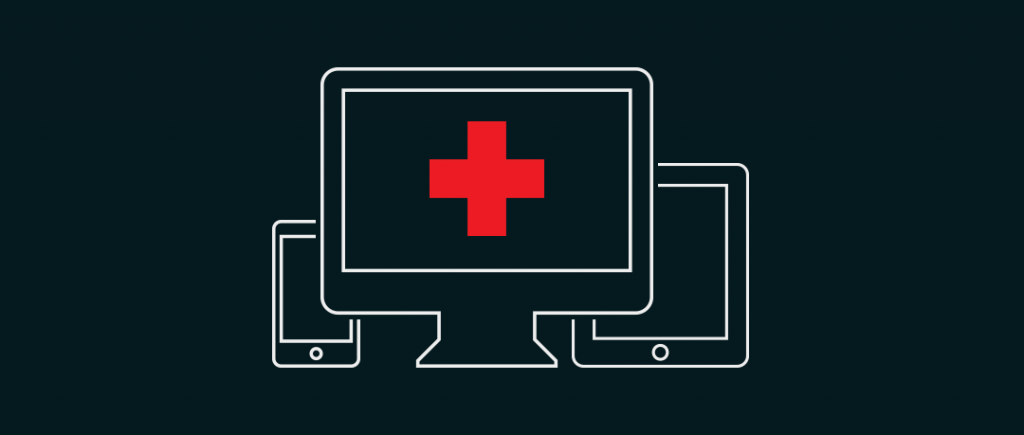 illustration of smartphone, desktop, and tablet computers