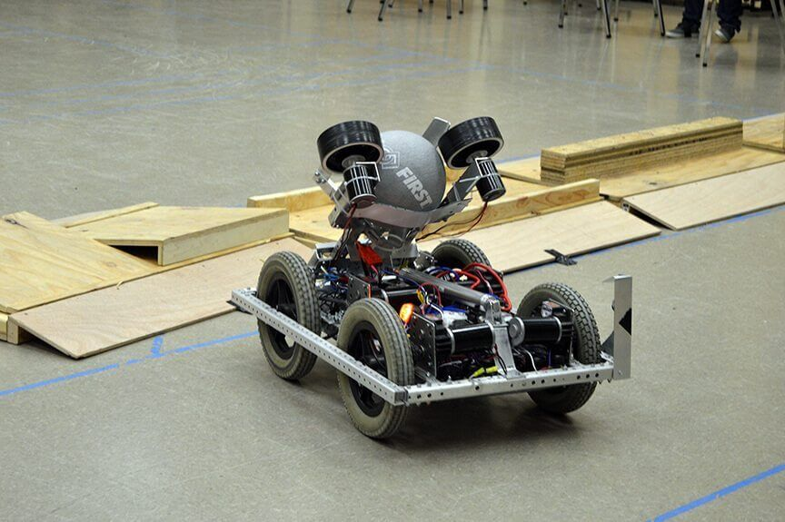 FIRST FRC Team 4611 the robot in action