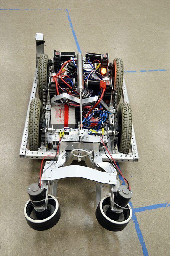 FIRST FRC Team 4611 robot at rest