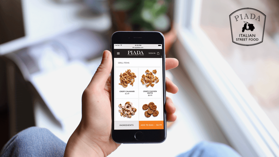 Project - Piada Italian Street Food Web Development by Chepri® restaurant mobile app