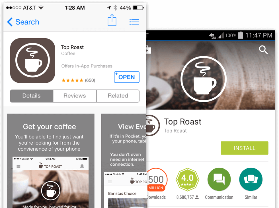 App store ready Ecommerce Design Services