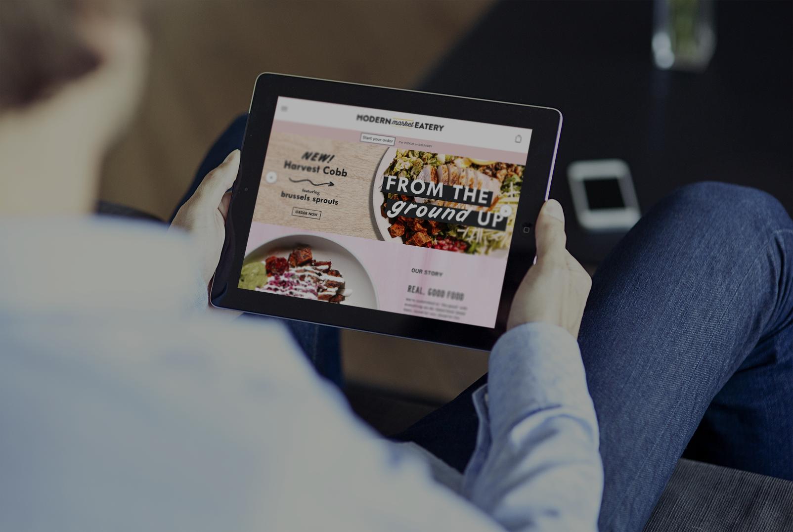 Modern Market iPad home screen