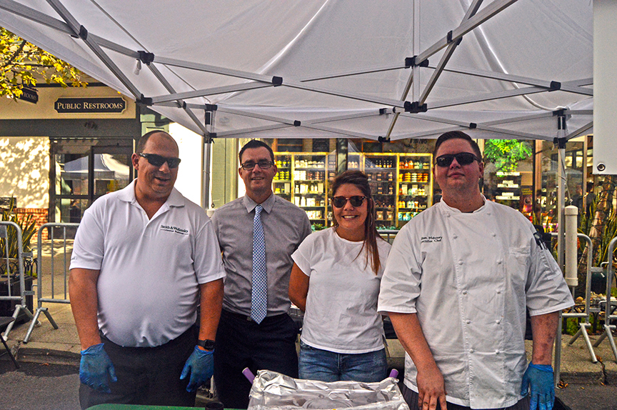 Group of chefs posing at Mac and Cheese Festival