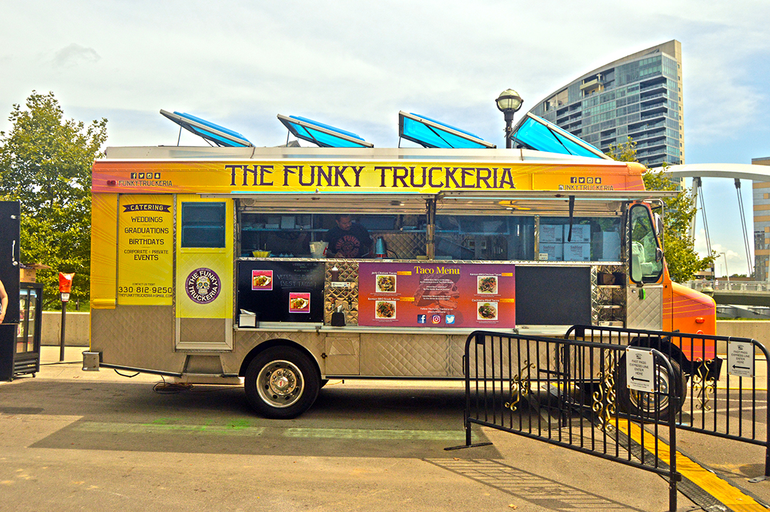 The Funky Truckeria in front of Miranova, Columbus Food Truck Festival
