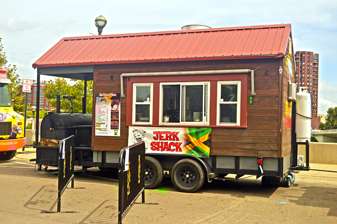 Jerk Shack parked at Scioto Mile, Columbus Food Truck Festival