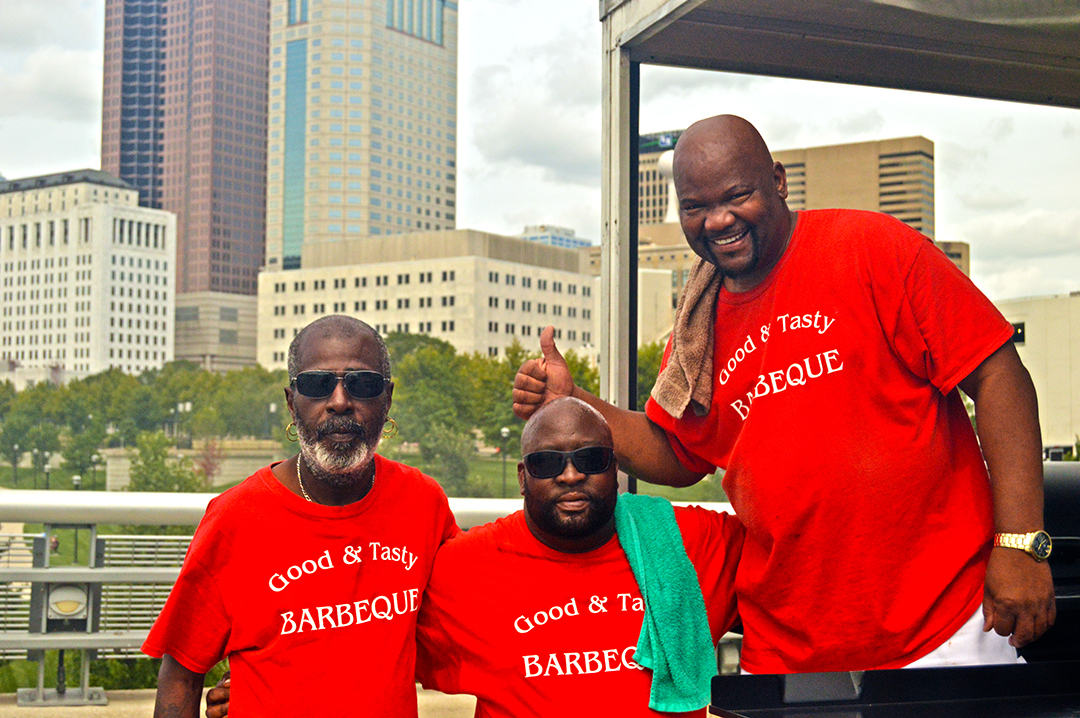 Three members of Good & Tasty team pose, Columbus Food Truck Festival