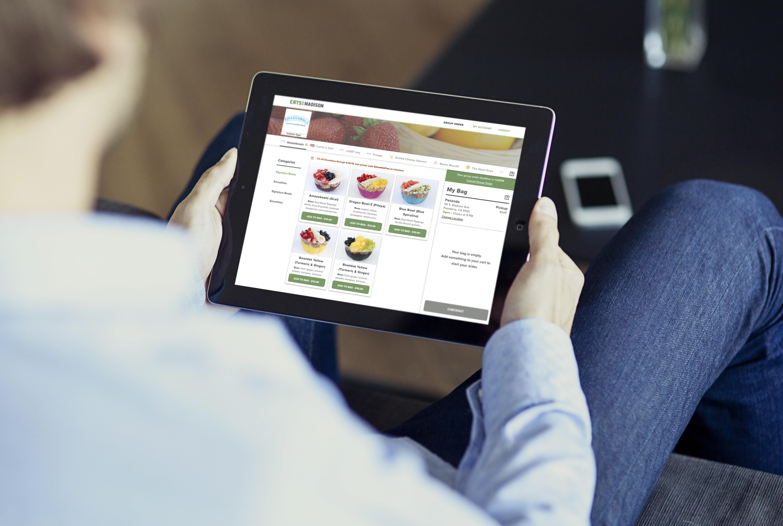 Eats on Madison menu categories ipad mockup
