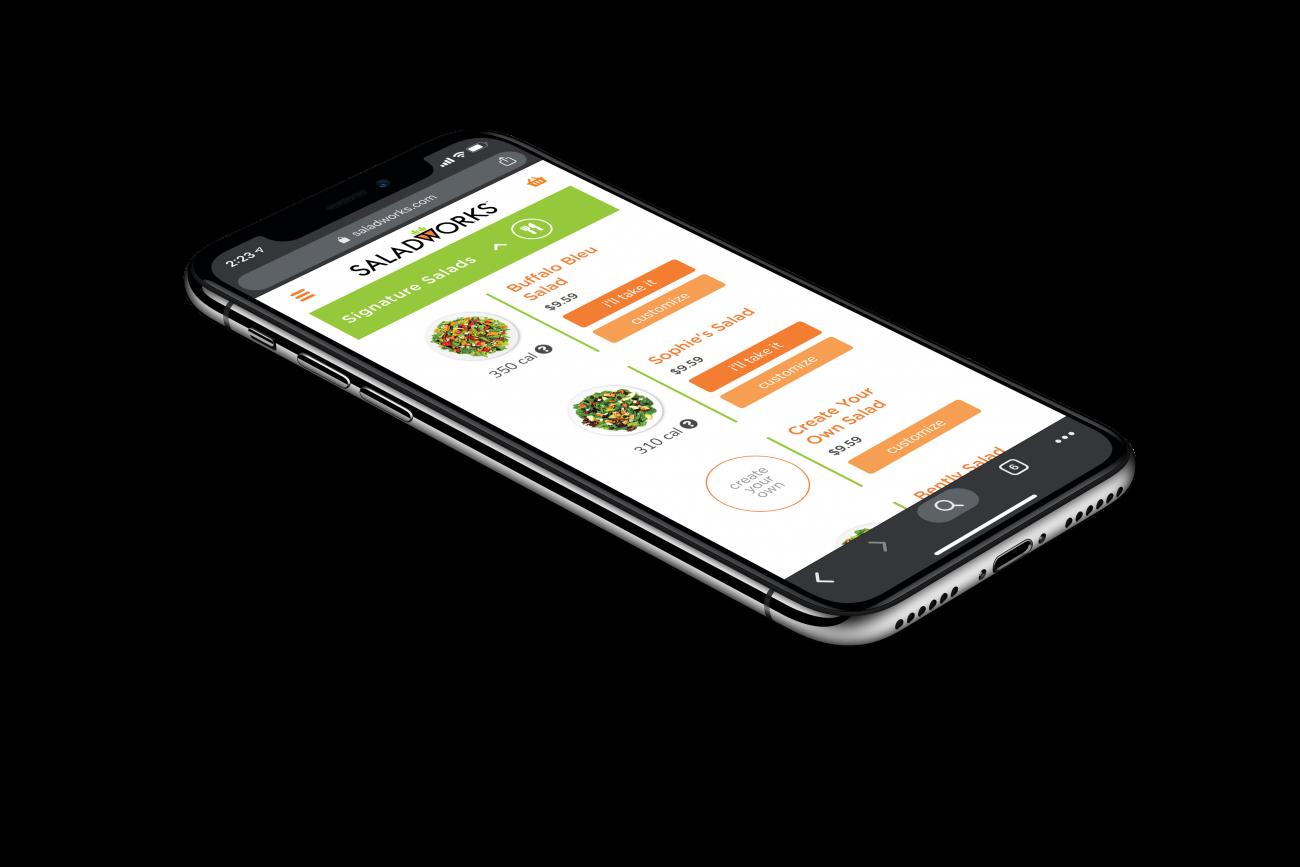 Saladworks mobile application design