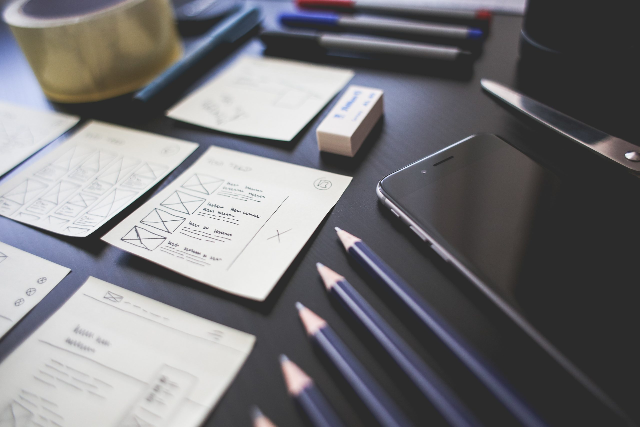 User experience wireframing