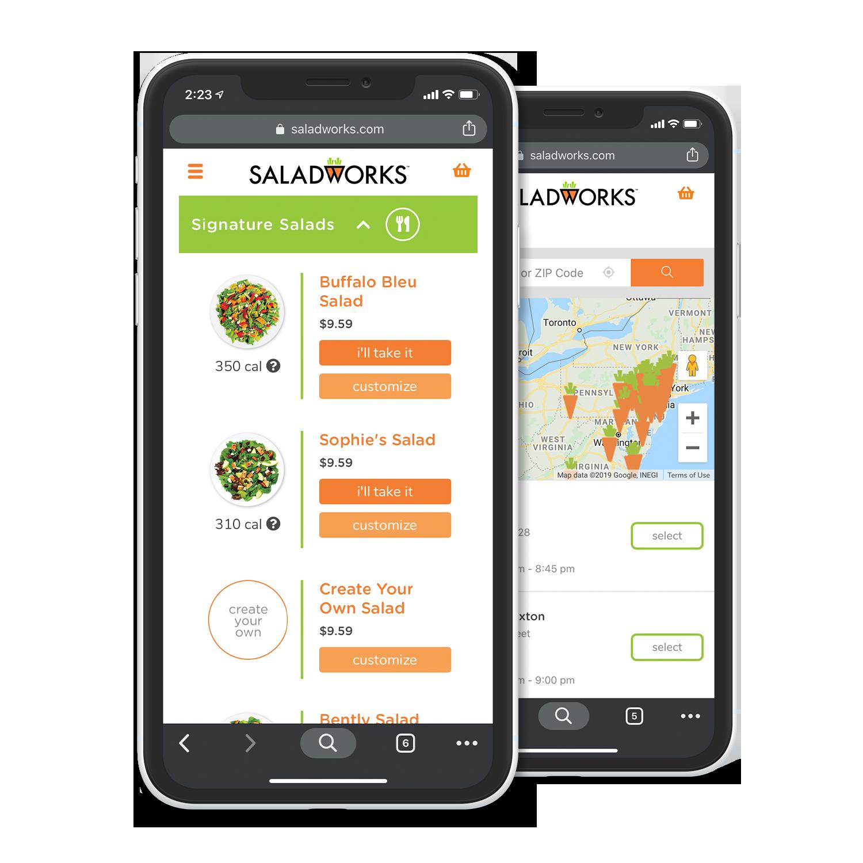 Saladworks Signature Mobile UX Design