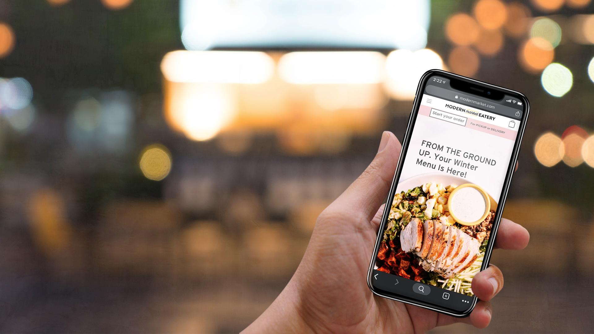 Modern Market mobile home screen