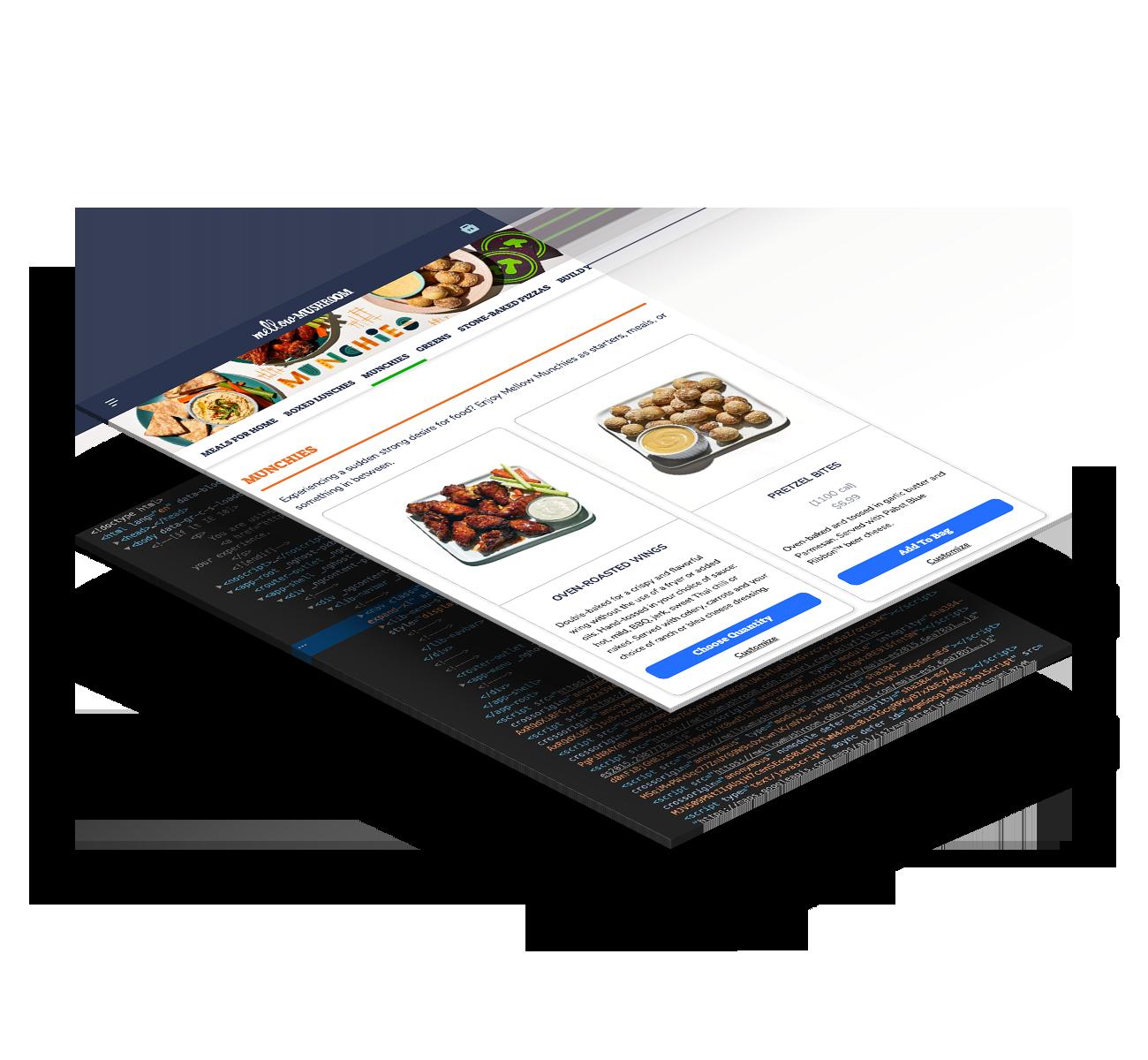 Mellow mushroom restaurant digital menu app