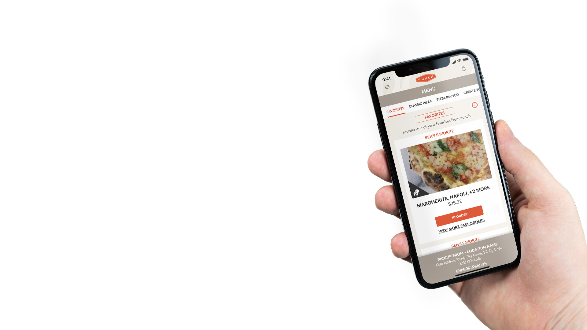 Punch pizza online ordering iphone