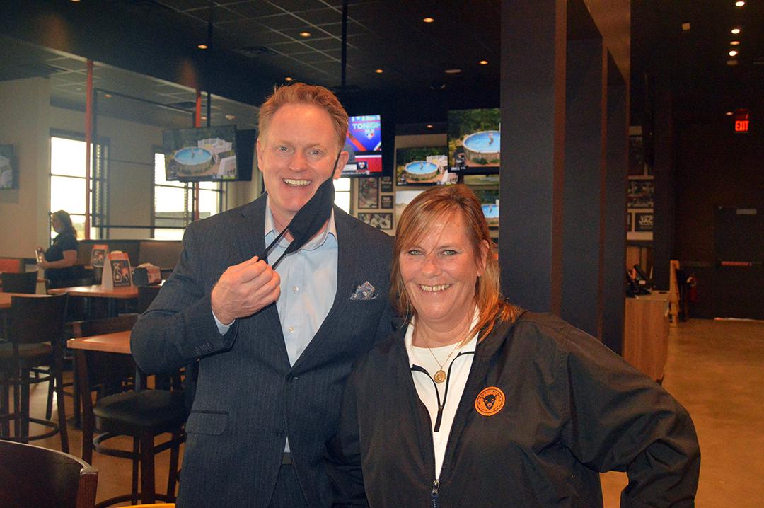 Keith Garrard & Kathy at BW&R Milford location.